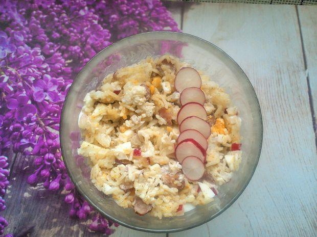 Sałatka ryżowa z rzodkiewką