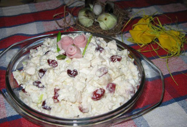 Sałatka ryżowa z żurawiną i kurczakiem