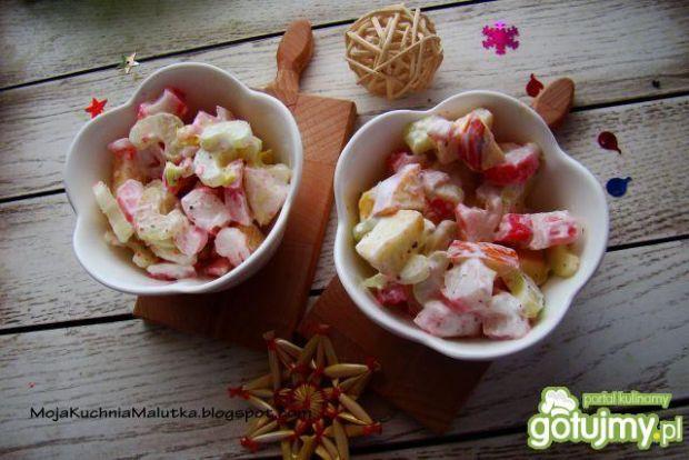 Sałatka selerowo- krabowa z jabłkiem