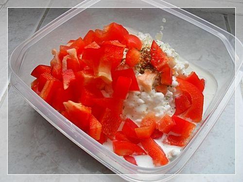 Sałatka serek wiejski z mandarynką