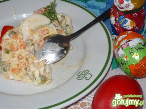 Sałatka świąteczna z warzywami