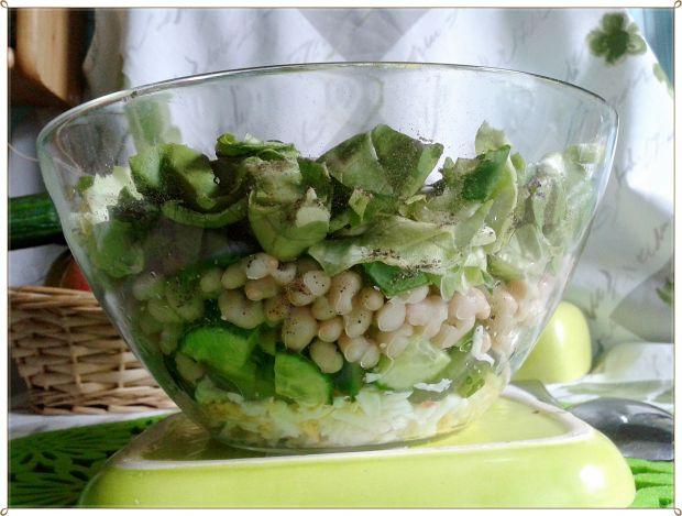 Sałatka warstwowa zielono-biała