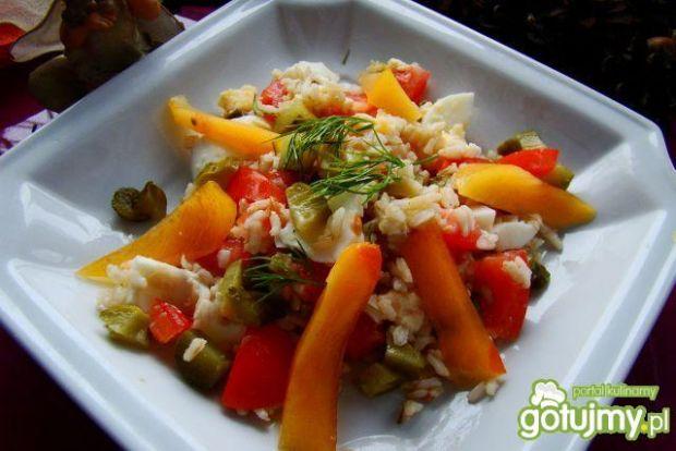 Sałatka warzywna z kaki