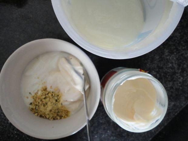 Sałatka z boczniakami i jajkiem