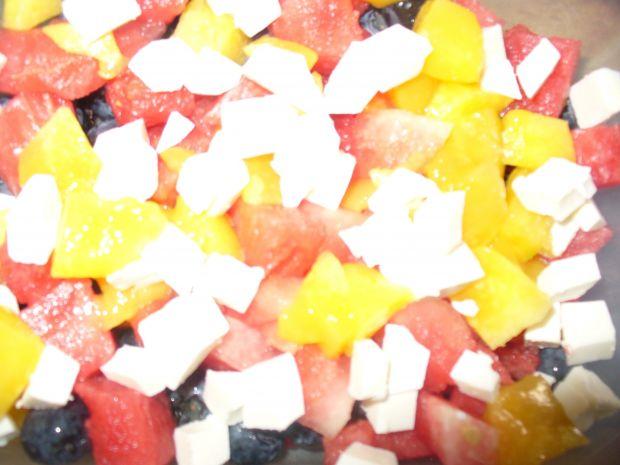 Sałatka z borówkami,arbuzem i fetą