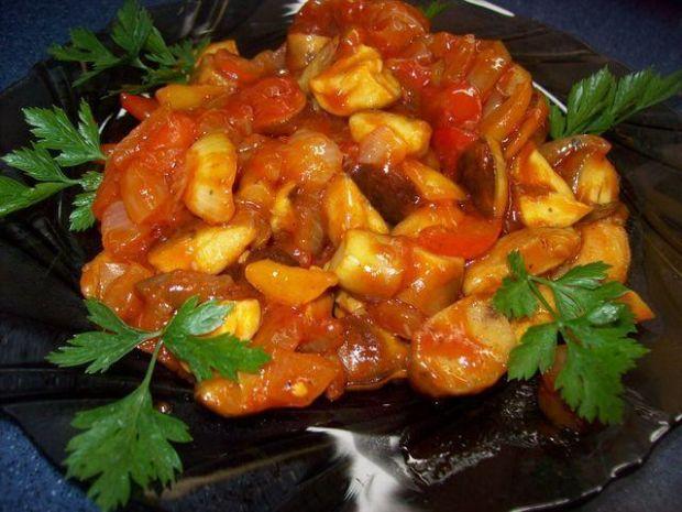 Sałatka z grzybów z papryką