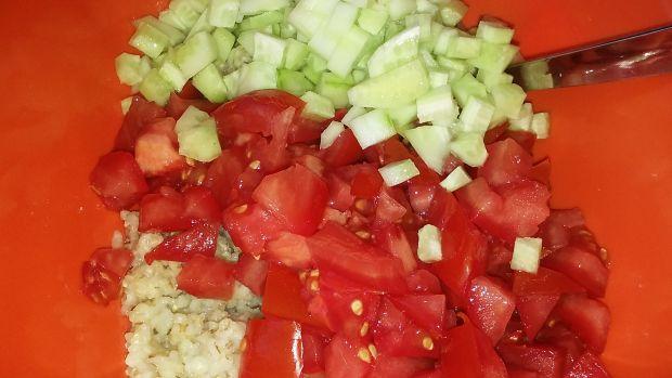 Sałatka z kasżą i majonezem