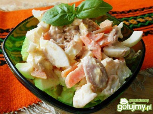 Sałatka z kiszonego kalafiora