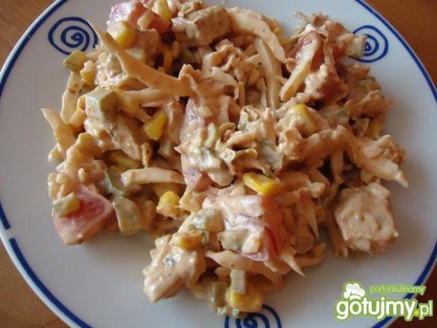 Sałatka z kurczakiem i pomidorem