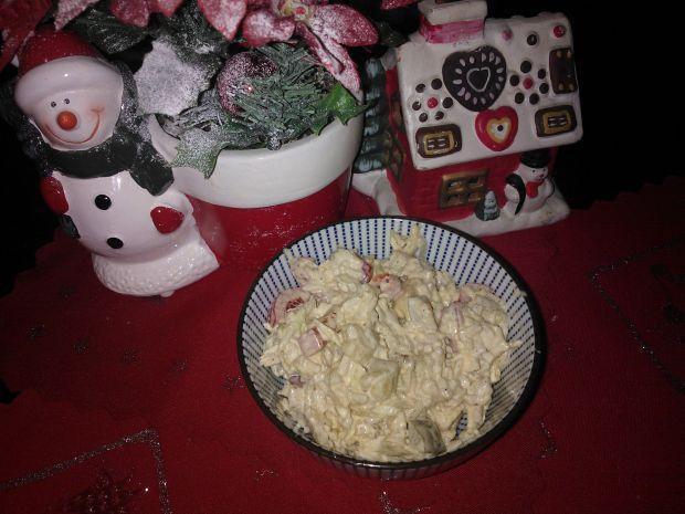 Sałatka z kurczakiem,ryżem i kapustą pekińską