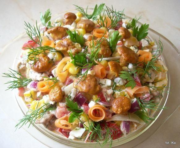 Sałatka z kurkami