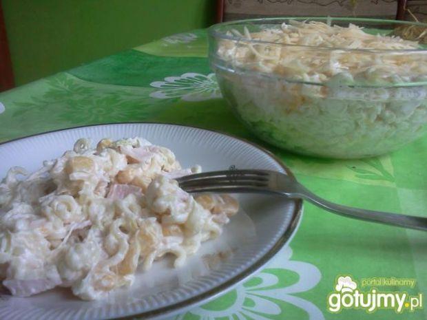 Sałatka z makaronem i szynką(2)