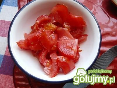 Sałatka z pomidorów i cebuli
