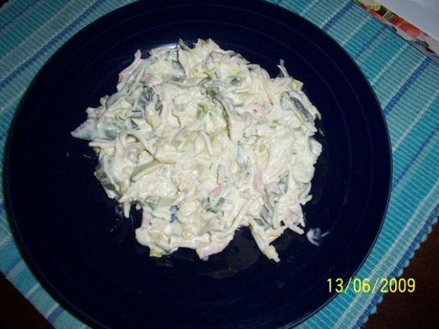 Salatka z pora.