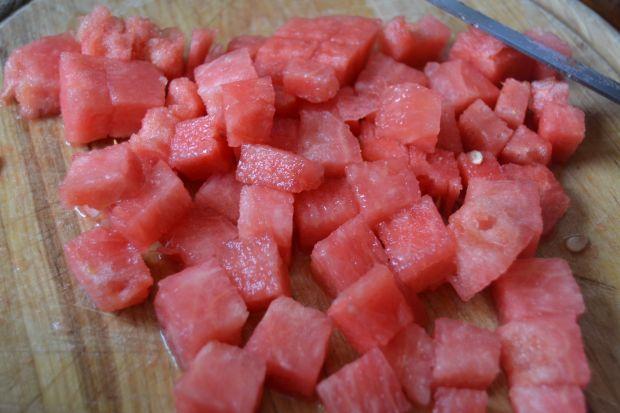Sałatka z roszponką oraz arbuzem
