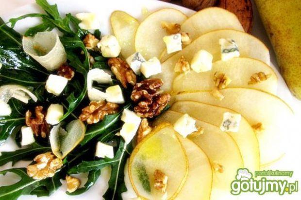 Sałatka  z rukoli ,gruszek i gorgonzoli
