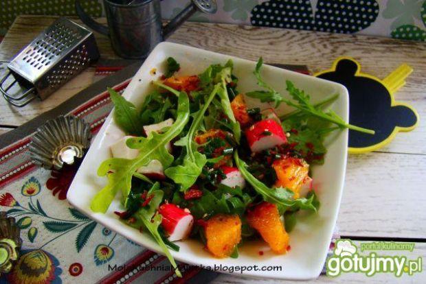Sałatka z rukoli i pomarańczy