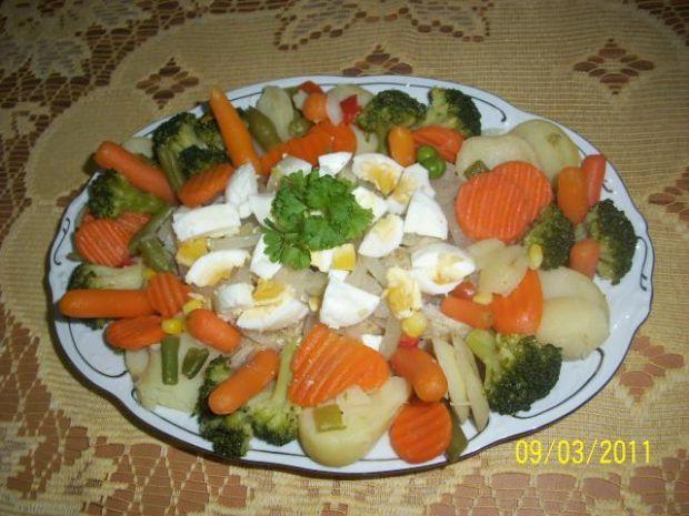 sałatka z ryb gotowanych