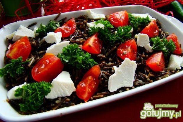 Sałatka z ryżu dzikiego