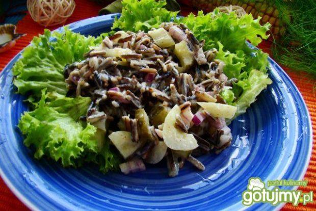 Sałatka z ryżu dzikiego i ogórków