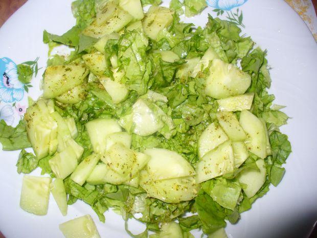 Sałatka z rzodkiewką i ogórkiem zielonym