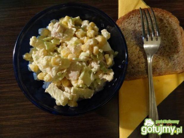 Sałatka z serem pleśniowym 3