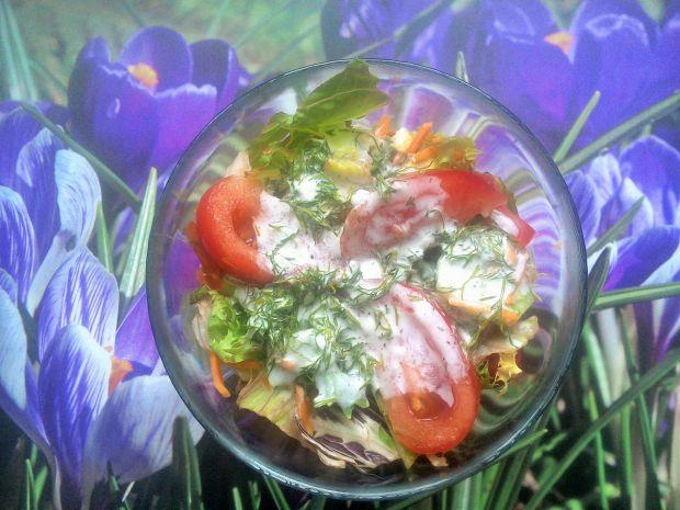 Sałatka z sosem koperkowym