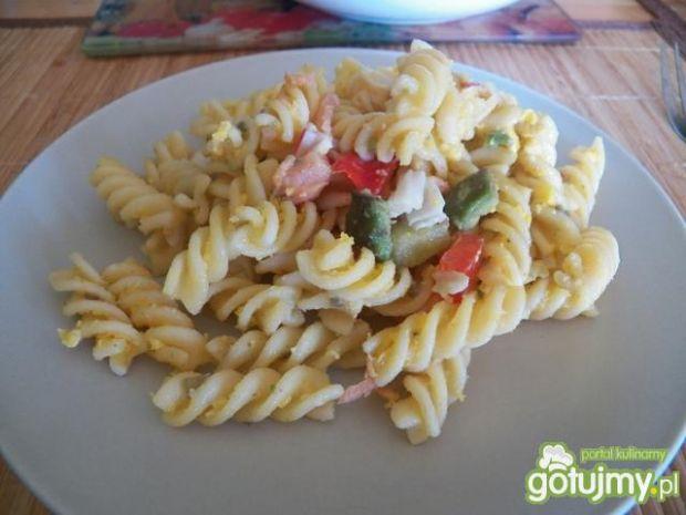 Sałatka z sosem z żółtek