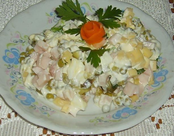 Sałatka z szynką