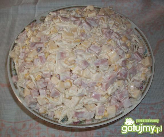 Sałatka z szynką.wg Furii