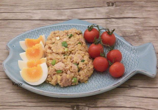 Sałatka z tuńczykiem i soczewicą