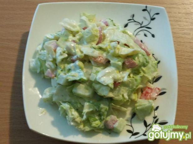 Sałatka z warzywami i tzatziki