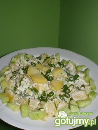 Sałatka z ziemniaków i ogórków zielonych