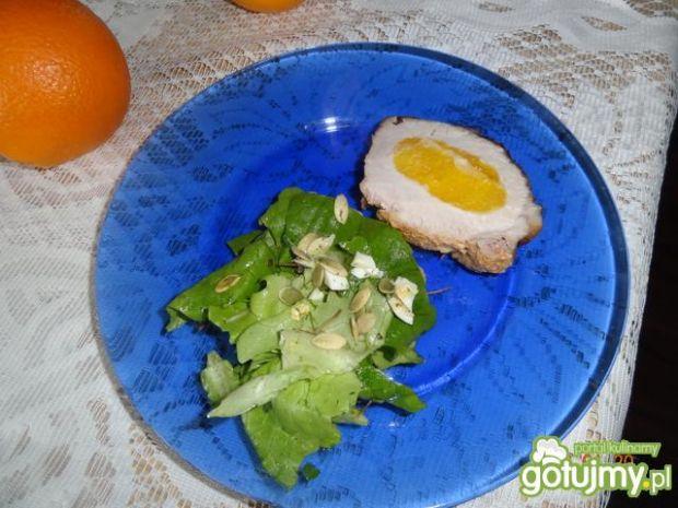 Schab faszerowany pomarańczami