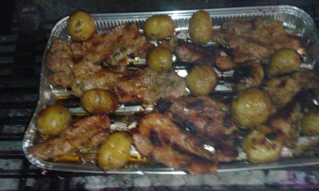 Schab grillowany z młodymi ziemniakami