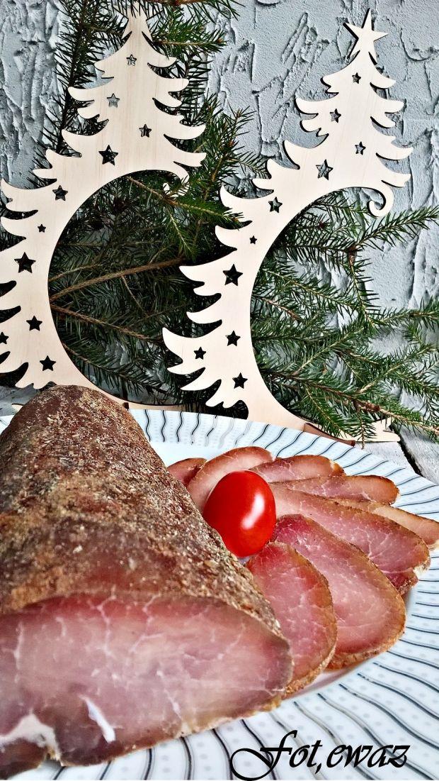 Schab suszony świąteczny