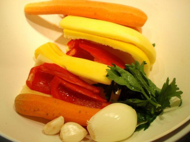 Schab w duszonych warzywach