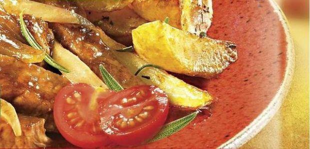 Schab w sosie barbecue