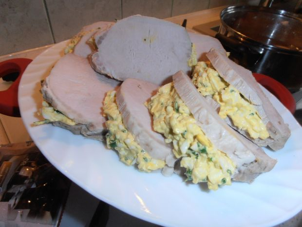 Schab z pastą jajeczną w galarecie