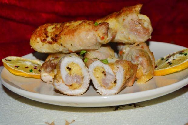 Schabowe roladki z żółtym serem