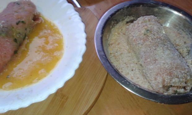 Schabowe rolady ze szpinakiem