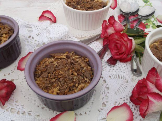 Serniczki pieczone w kokilkach z wafelkami