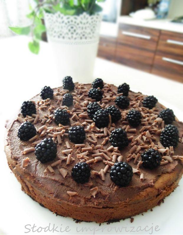 Sernik brownie na ciasteczkowym spodzie