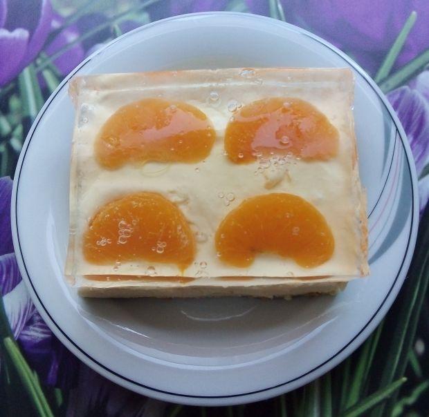 Sernik gotowany z mandarynkami i galaretką