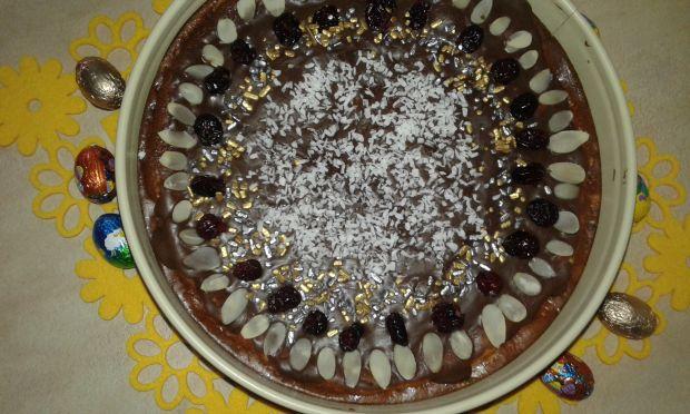 Sernik na spodzie z ciasteczek amaretto