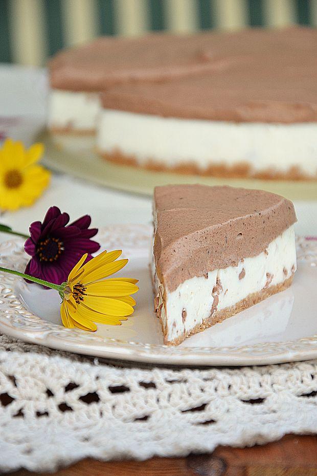 Sernik na zimno czekoladowo-miętowy