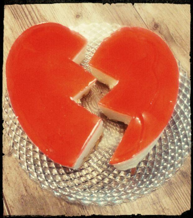 Sernik na zimno złamane serce