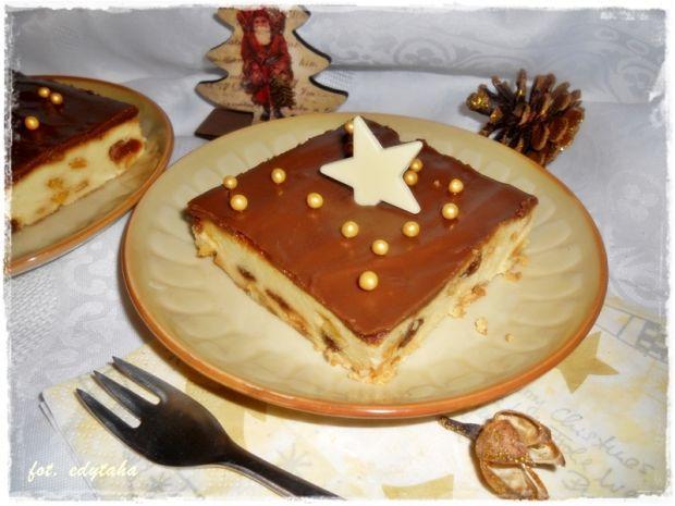 Sernik wiedeński z polewą czekoladową
