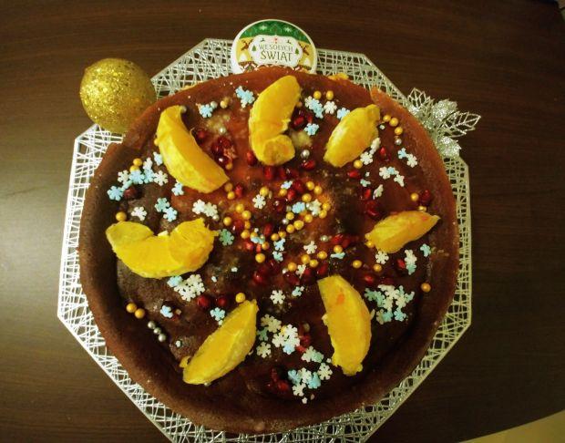 Sernik z pomarańczową nutą