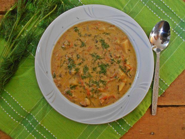 Serowa zupa ogórkowo-porowa